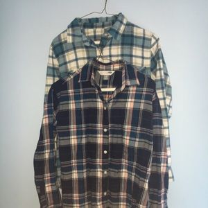 Two Old Navy Flannels